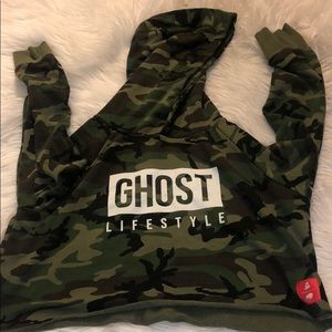 GHOST crop sweater size Small